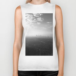 Los Angeles. L.A. Skyline. Black and White. Jodilynpaintings. Sunrise. Sunset. Cityscape. California Biker Tank