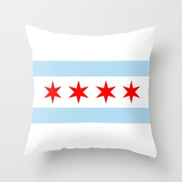 Chicago City Flag Windy City Standard Throw Pillow