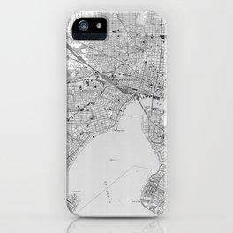 Vintage Map of Jacksonville Florida (1950) BW iPhone Case