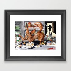 It is the foxy fennec who purged whole fridge Framed Art Print