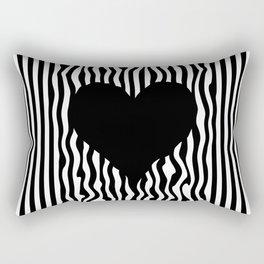 Heart optical illusion #society6 #decor #buyart #artprint Rectangular Pillow