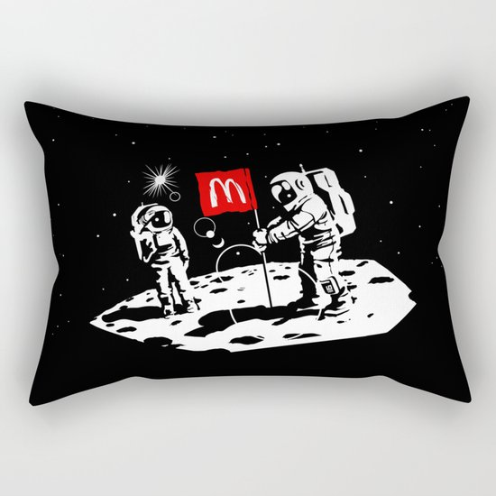 First we take Manhattan, Then we take Moon Rectangular Pillow