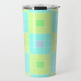 square pattern Travel Mug