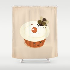 Fly on a Cupcake Shower Curtain
