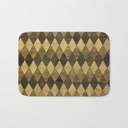 Wooden Diamonds Bath Mat