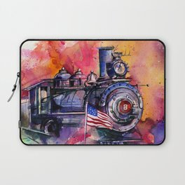 American Train by Kathy Morton Stanion Laptop Sleeve
