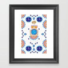 Lucky Evil Eye Cuckoo Clock Framed Art Print