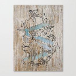 VV wood style Canvas Print