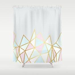Gold & Pastel Geometric Pattern Shower Curtain