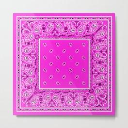 Abruptly Pink Bandana Metal Print