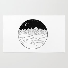 Mountains and the Moon Rug