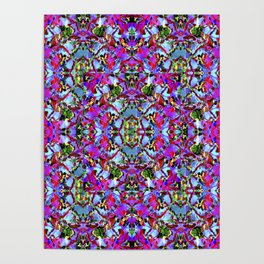 Multicolored Abstract Collage Pattern Poster