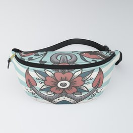 Anchor with birds - Keep my feet on the ground Fanny Pack