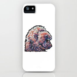 Labradoodle Doodle Dog Portrait bright colorful Pop Art Paintin by LEA iPhone Case