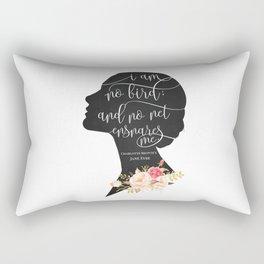 I am no Bird - Charlotte Bronte's Jane Eyre Rectangular Pillow
