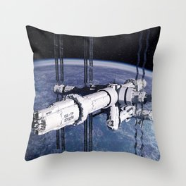 ISS Thomas Pesquet Throw Pillow