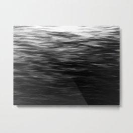 B&W Waves2 Metal Print