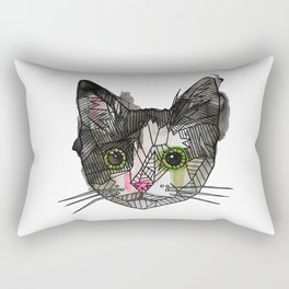 Geometric Rescue Cat Rectangular Pillow