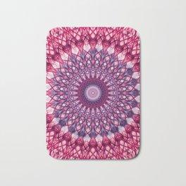 Pink and violet mandala Bath Mat