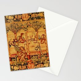 Jesus with Mary Magdalene 16th Century German Tapestry Stationery Cards