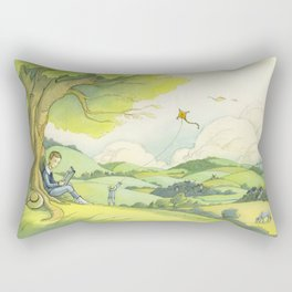 Tolkien In The Birmingham Hills Rectangular Pillow