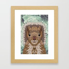 Ornate Squirrel Framed Art Print