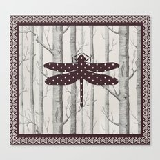 Dotted Dragonfly Canvas Print