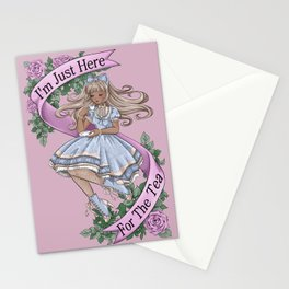 Here For The Tea Stationery Cards