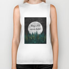 Stay Wild Moon Child Biker Tank