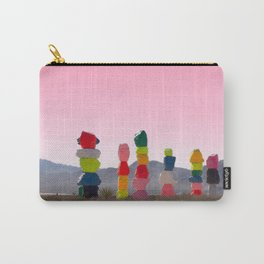 Seven Magic Mountains with Pink Sky - Las Vegas Carry-All Pouch