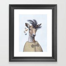 Fashion deer Framed Art Print