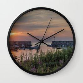 Lanes Cove Sunset 7-28-19 Wall Clock