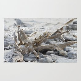 Driftwood and Beach Rocks Rug