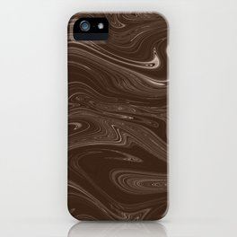 Hickory Liquid Marble iPhone Case