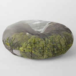 Fog Over Natural Bridges Floor Pillow