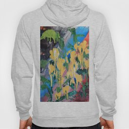 Abstrct Yellow flowers Hoody