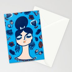 Diamonds and Pearls in Your Hair Stationery Cards