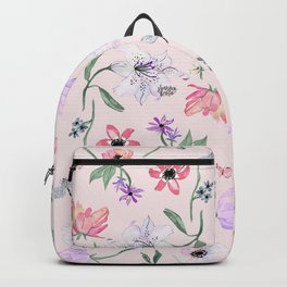 PINK LILY PRINT Backpack