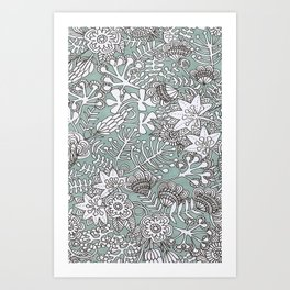 mod garden Art Print