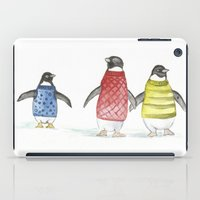 penguins iPad Cases featuring penguins by Maria Durgarian