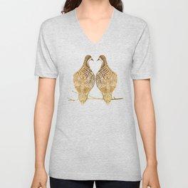 Two Turtle Doves Unisex V-Neck