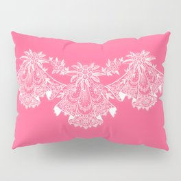 Vintage Lace Hankies Pink Pillow Sham