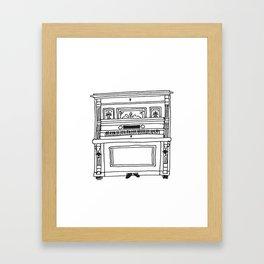 nanna's antique piano  Framed Art Print