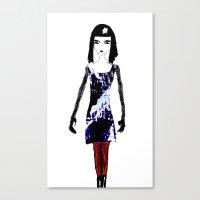 dress Canvas Prints featuring Dress by Mikhaelle A.