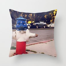 Hydrant National ∫ Living Los Angeles Throw Pillow