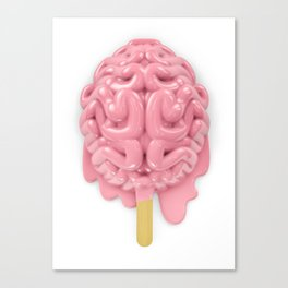 Popsicle brain melting Canvas Print