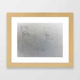noooooooooooo/huhhh Framed Art Print