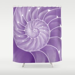 Ultra Violet Chambered Nautilus Shower Curtain