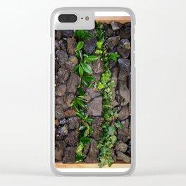 Coal and Leaves 01 Clear iPhone Case