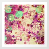 bubblegum Art Prints featuring Bubblegum by SensualPatterns